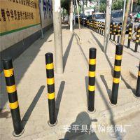 小区街道道路隔离柱 公路两侧防撞警示立柱 金属停车位挡车器立柱