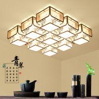 创新新中式吸顶灯客厅灯中国风现代LED卧室书房餐厅灯具手绘灯