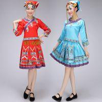 新款苗族舞蹈表演服装苗族彝族演出服饰民族舞舞台表演服舞蹈服装