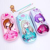 猫太子 花花姑娘女生大容量韩版文具盒小学生可爱卡通笔袋批发