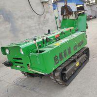 新型履带式开沟施肥机 履带低矮拖拉机旋耕机 启航牌除草机价格