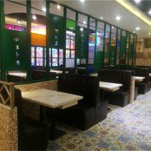 成都港式餐饮店家具定制,港式餐厅沙发桌子组合
