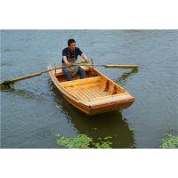 出售南通河道保洁船水草打捞船木质渔船手划观光船