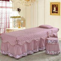 欧式可定做欧式纯棉美容床罩棉美容院四件套推拿理疗