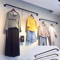 衣服2017墙上欧式壁挂单杠童装店墙壁挂挂架服装展示架整体式