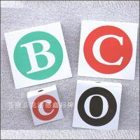 德鑫电力标牌定做ABC电力金属铭牌电力设备ABC相序牌电力杆号牌