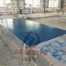 玻璃钢纤维板 河南厂家定做3mm —10mm平板玻璃钢蓝色树脂板