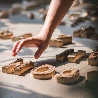 定做天然原木装饰树皮白桦木字母摆件墙饰道具DIY北欧ZAKKA
