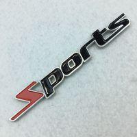 SPORTS金属车贴运动改装铝合金烤漆3D立体车标志装饰贴尾标车贴