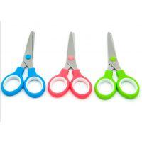 不锈钢剪刀 圆头双环剪刀 幼儿园手工制作  不伤手剪刀