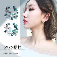 925纯银耳环女耳饰珍珠耳钉妈妈款气质韩国个性潮人简约百搭