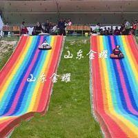 明天的成长 双人滑道环保聚乙烯彩虹滑道建设 现货供应