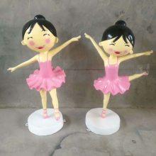 带皇冠跳芭蕾舞造型卡通小女孩玻璃钢仿真雕像/天鹅舞者小公主雕塑/舞蹈瑜伽培训机构摆件