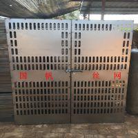 国帆施工升降机安全防护门 工地升降机安全门 优质