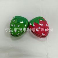 马口铁心形糖果盒  草莓软糖盒  结婚用小喜糖盒  厂家定制生产