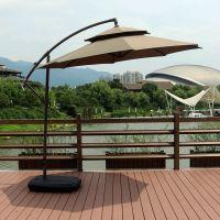 户外遮阳伞3米大太阳伞室外休闲庭院伞岗亭保安香蕉伞罗马伞折叠
