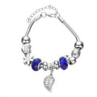 欧美时尚潘diy多拉手链合金复古大孔珠手链琉璃新款串珠手饰批发