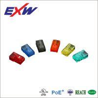 台资宁波卓新供应超五类六类彩色镀金厚度FU-50U水晶头