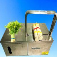 自动韭菜扎把机 青菜捆扎机价格 捆菜机设备 鲁强机械