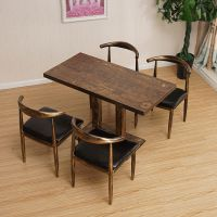 套装厅桌椅商用烧烤西餐厅桌椅藤椅餐桌小圆桌快餐大型会议室