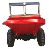 垃圾牲畜粪便处理用四轮车 专业团队销售工程翻斗车 平行转动前卸式翻斗车