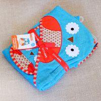 美国正品Skip Hop动物园系列纯棉儿童宝宝连帽浴袍戴帽婴儿浴巾