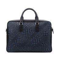 西尚 XS-WT5010 新款欧美拼色编织男士真皮手提包男款公文包