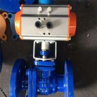 气动衬氟球阀 Q641F46-16C DN32 流量控制阀 法兰单向阀气动球阀