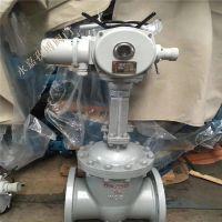 上海铸钢电动闸阀生产厂家 Z941H-64C DN80 楔形法兰式电动闸阀 Z941Y