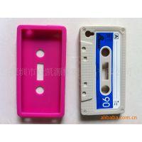 时尚磁带硅胶套 老款丝印硅胶套 音乐磁带硅胶套