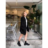 Five Plus女装服装尾货批发市场折扣女装 广州石井品牌服装尾货批发市场在哪里黑色半身裙