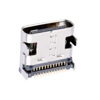 TYPE-C 24PIN 母座 板上型 双排贴片SMT 有柱 四脚插板DIP 快充-好上美科技
