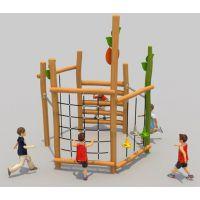 幼儿园户外木质轮胎攀爬架秋千爬网攀爬墙组合滑梯感统训练器材