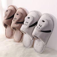 日式秋冬驱寒保暖棉拖鞋家用清洗便捷拖鞋动物图案棉鞋厂家批发价