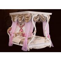 逸邦家具 全实木床奢华公主床 欧式床双人床1.8 2米 雕花组合床