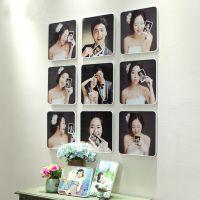 韩式 九宫格照片墙 相框墙 婚纱影楼儿童 吸单礼品 9组合 照片墙
