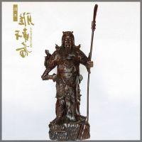 礼品摆件红木工艺品 木雕刻招财关公风水摆件 实木质财神爷佛像带