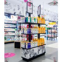 化妆品展示架产品展架定制促销堆头地堆样品金属陈列架方形