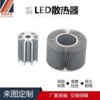 广东厂家直销异型铝合金LED散热器路灯散热器烤漆丝印CNC深加工结构坚实