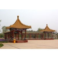 湖北宸辉木业提供 校园长廊 文化长廊 庭院景观长廊