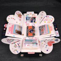 浪漫生日礼物送男生女朋友创意diy手工机关相册 爆炸照片礼品盒子