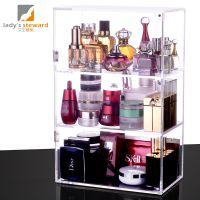 一件代发女生管家 透明亚克力化妆品护肤品香水置物架加高三层柜