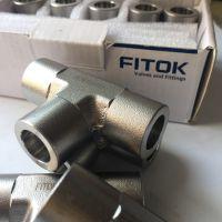 321承插焊三通接头 S1-WT-MTS14mm管FITOK奥氏体高压高温三通等径接头