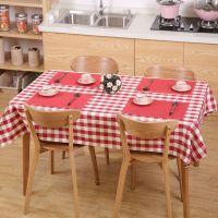 FaSoLa格子日式桌布布艺长方形野餐桌布美式田园酒店茶几布客厅布