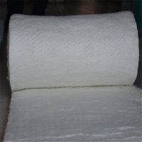 生产甩丝保温硅酸铝毯 50mm陶瓷纤维针刺毯一平方价格