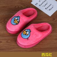 女童儿童棉拖鞋卡通男秋冬季包跟防滑保暖室内小孩拖鞋地板福利款