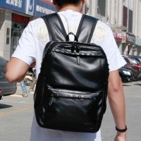 鑫宁男包韩版潮书包大中学生女PU男士铆钉双肩包休闲旅行背包批发