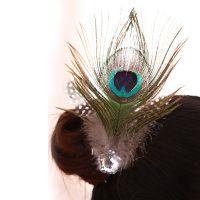 民族舞头饰傣族孔雀舞头饰 孔雀羽毛头饰 真正的孔雀羽毛头花
