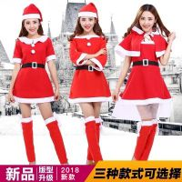 2018圣诞节服装成人女兔女郎性感cos舞会红色圣诞老人衣服ds演出