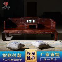 红木家具供应 中式仿古罗汉床 老挝大红酸枝贵妃椅 花鸟罗汉榻批发